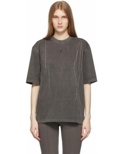 T-shirt z haftem krótki rękaw bawełniany Ader Error