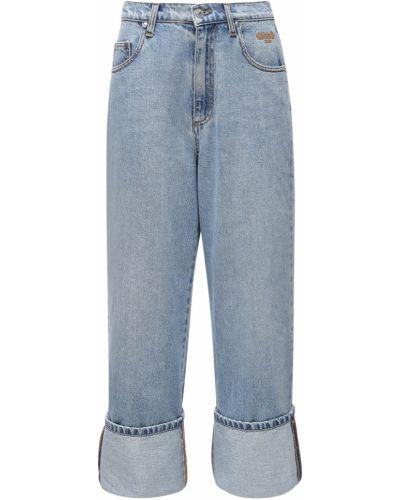 Прямые джинсы с манжетами mom Msgm