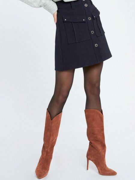 Юбка широкая синяя Morgan