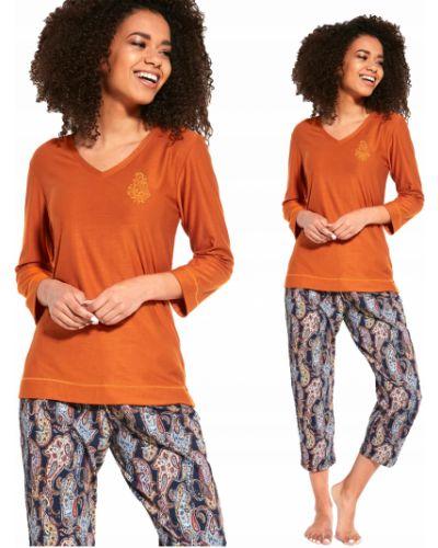 Z rękawami piżama bawełna bawełna piżama Cornette