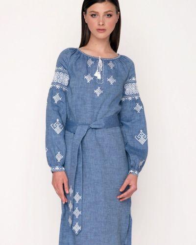 Платье миди весеннее синее Garmoniya