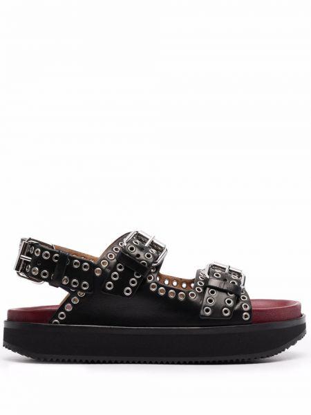 Czarne sandały peep toe Isabel Marant