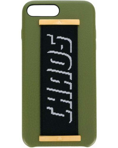 Золотистый с ремешком кожаный зеленый футляр для очков Chaos