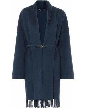 Синее шерстяное пальто Salvatore Ferragamo