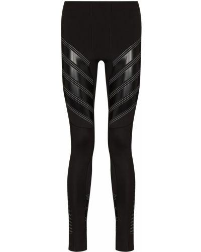 Czarne legginsy z nylonu Pressio