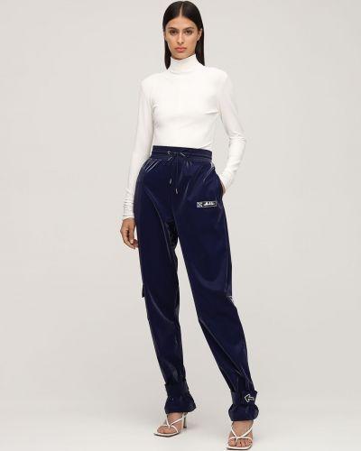 Spodnie z aksamitu - niebieskie Off-white