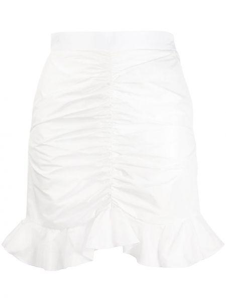 Biała spódnica mini z falbanami Giamba