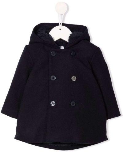 Niebieski klasyczny płaszcz Petit Bateau