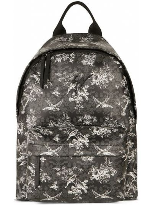 Plecak skórzany - czarny Giuseppe Zanotti