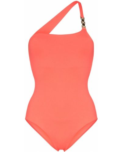 Приталенный оранжевый купальник на одно плечо Melissa Odabash