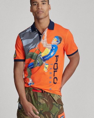 Оранжевое поло с короткими рукавами Polo Ralph Lauren