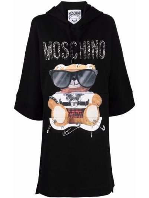 Черное платье свитер Moschino