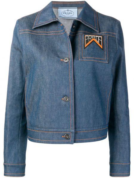 Джинсовая куртка на пуговицах классическая Prada