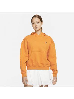 Bluza dresowa z kapturem - pomarańczowa Nike