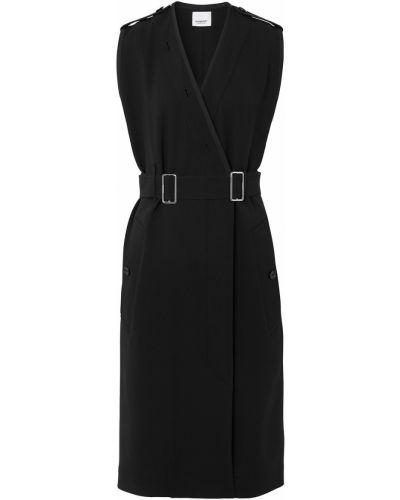 Платье с запахом - черное Burberry