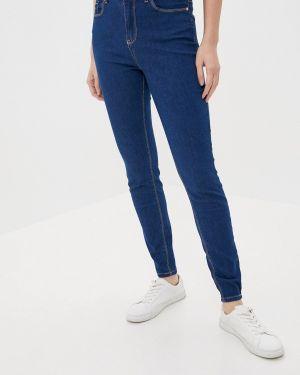 Синие джинсы-скинни с пайетками Stitch & Soul