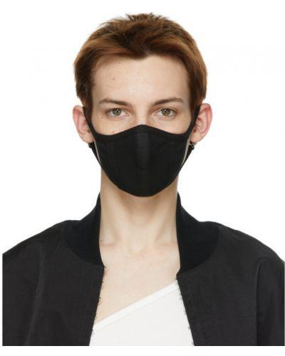 Czarny bawełna maska do ust rozciągać Dion Lee