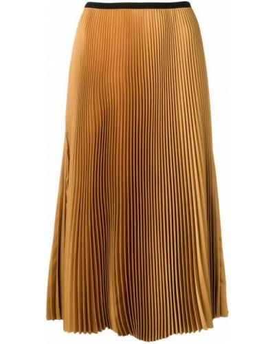 Плиссированная юбка миди с завышенной талией Blanca