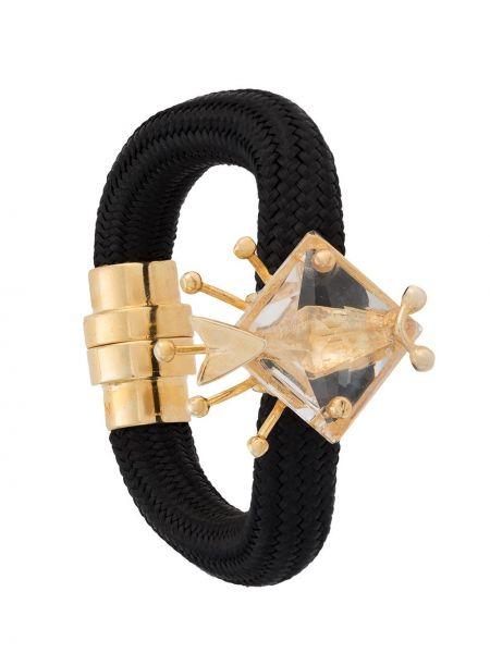 Золотистый черный браслет Osklen