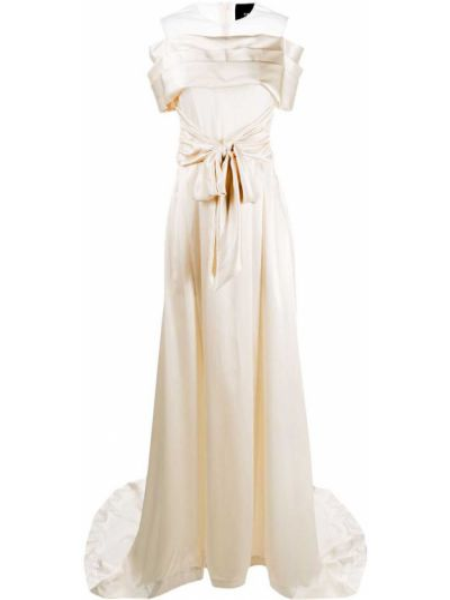 Шелковое платье мини со вставками прозрачное на молнии Simone Rocha