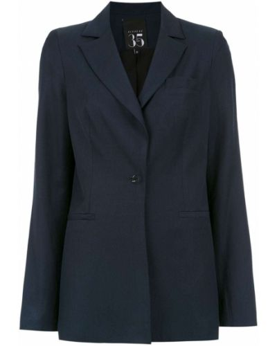 Прямой синий удлиненный пиджак Alcaçuz