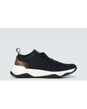 Кожаные кроссовки - синие Berluti