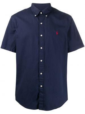 Koszula krótkie z krótkim rękawem z kołnierzem z haftem Ralph Lauren