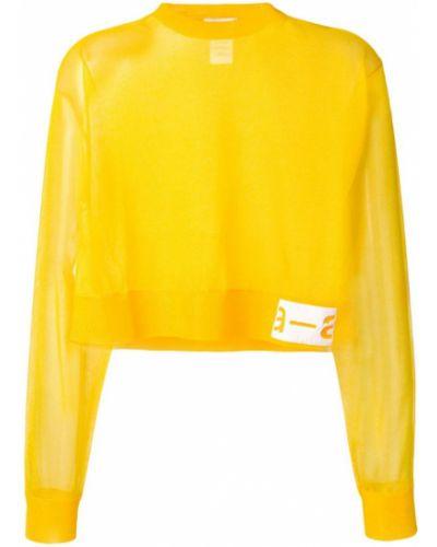 Желтый свитер со спущенными плечами в рубчик Artica Arbox