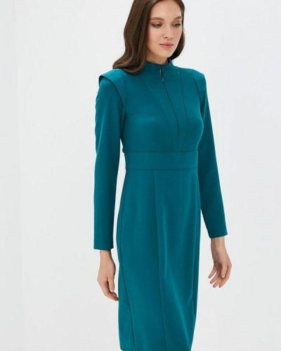 Платье бирюзовый осеннее Akimbo