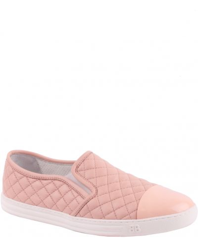 Слипоны на платформе розовый Baldinini