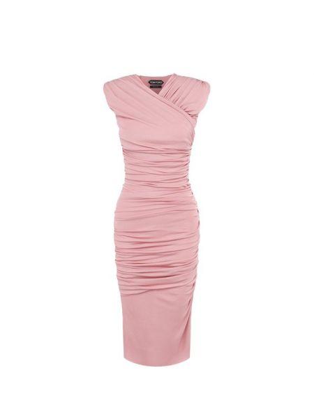 Платье розовое из вискозы Tom Ford
