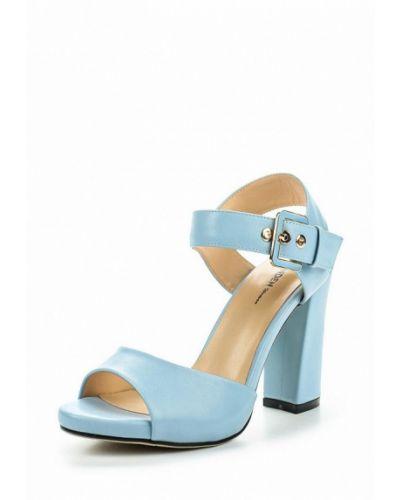 Голубые босоножки на каблуке Zenden Woman