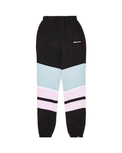 Прямые черные спортивные брюки со вставками Ellesse