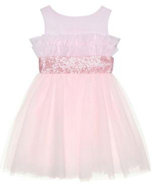 Sukienka różowy z tiulu Monnalisa
