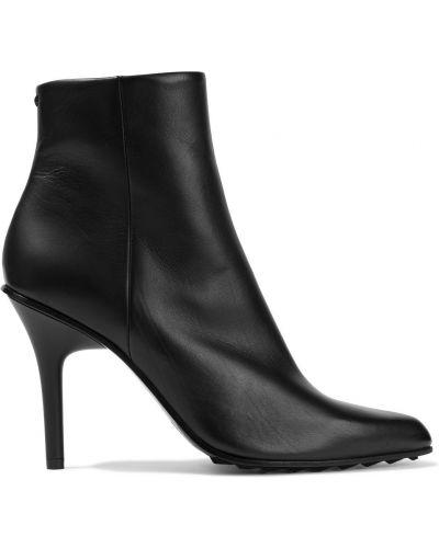Czarne ankle boots skorzane w szpic Rag & Bone