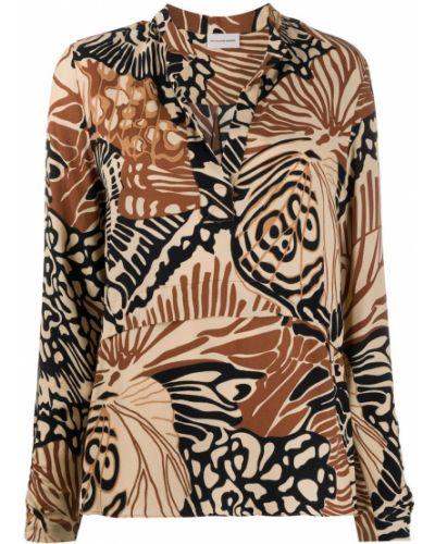 С рукавами рубашка с вырезом из вискозы By Malene Birger