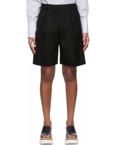 Черные шорты атласные Victoria Victoria Beckham