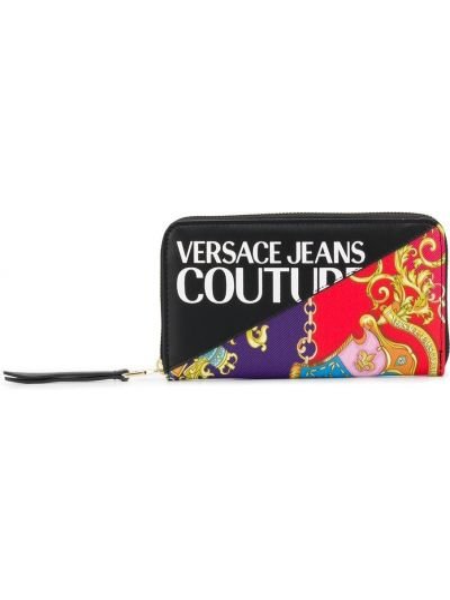 Черные джинсы с карманами со шлицей Versace Jeans Couture