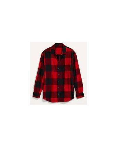 Красная теплая рубашка Old Navy