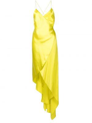 Шелковое платье - желтое Michelle Mason