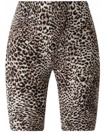 Beżowe spodnie z printem Kaffe