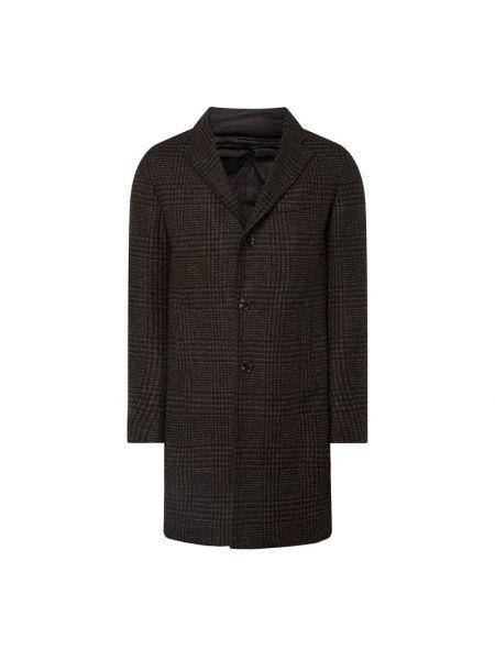 Wełniany płaszcz z kołnierzem z kieszeniami z zamkiem błyskawicznym Windsor