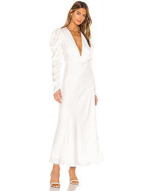 Платье миди на молнии с оборками Bardot