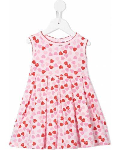 Różowa sukienka bawełniana bez rękawów Rachel Riley
