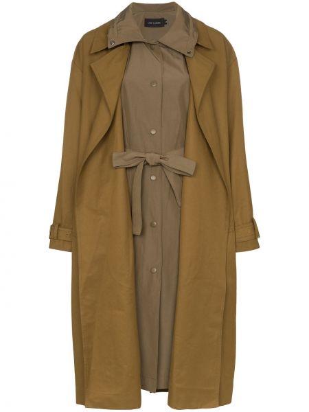 Пальто классическое с поясом на пуговицах с воротником Low Classic