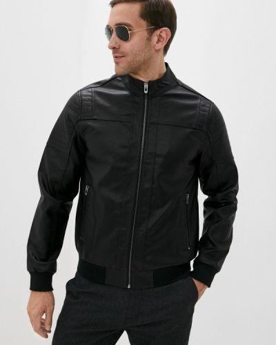 Кожаная куртка - черная Defacto