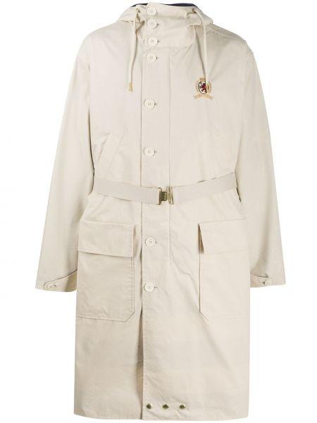 Хлопковое с рукавами длинное пальто на пуговицах оверсайз Hilfiger Collection