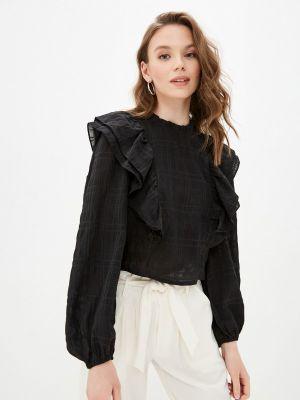 Черная блузка с оборками Bruebeck
