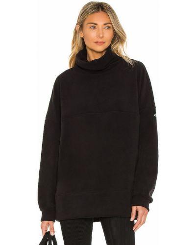 Плюшевая черная пуловер для йоги Alo