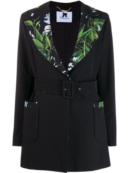 Черный удлиненный пиджак Blumarine
